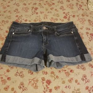 White House Black Market cuffed denim shorts